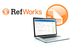 RefWorks logo and laptop