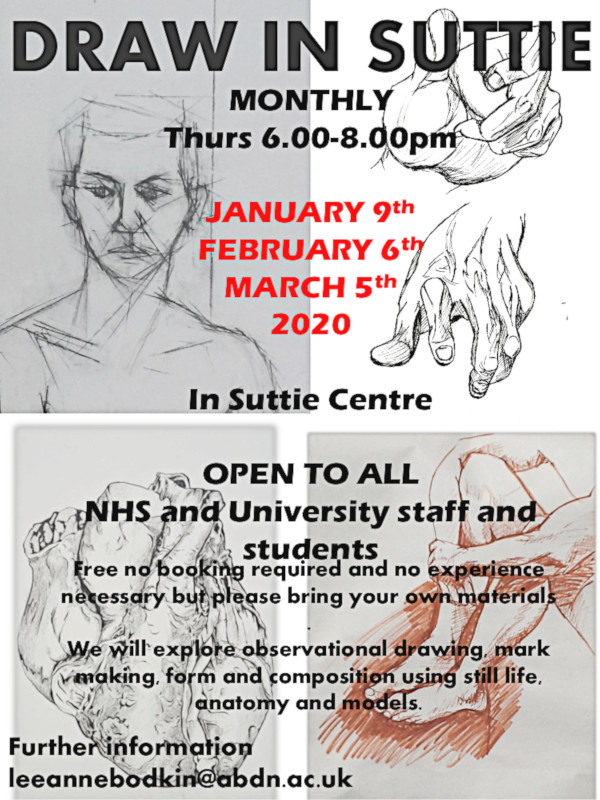 Poster for Draw in Suttie 6th February 6.00 pm